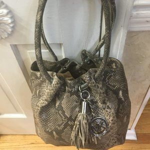 Large Michael Kors Leather Snake Print Tote